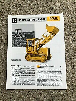 1978 Caterpillar 951-c Track-type Loader Original Sales Literature.