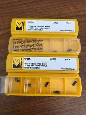 10x New Kennametal Top Notch Grooving Insert 1.19mm Tialn 1817699 Kc5025 Ng1047l