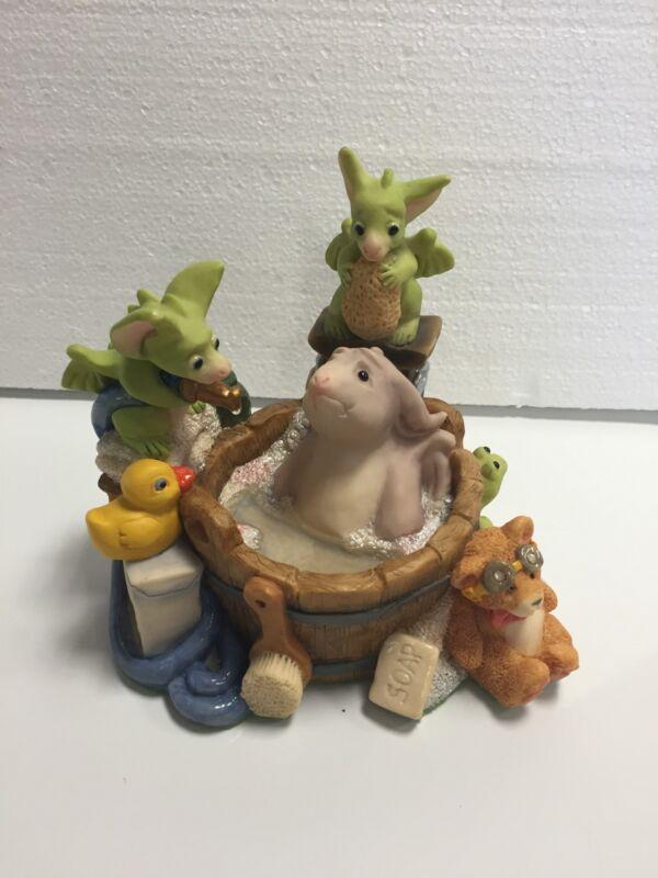 Bathing The Gargoyle No Box COA Whimsical World Of Pocket Dragons