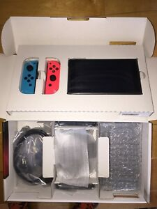Nintendo Switch Neon BNIB Factory Wrapped Receipt Pic PS4