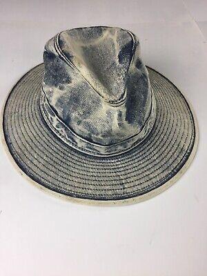 Vintage HATQUARTERS USA by HENSCHEL Frosted Denim Hat Size Large