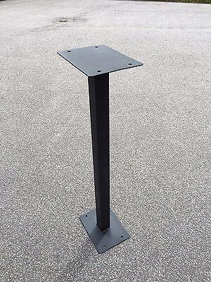 Black Metal Post Box Stand for Royal Mail Post Box Post Box 80cm
