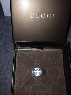 MENS GUCCI RING SILVER- AUTHENTIC IN THE BOX