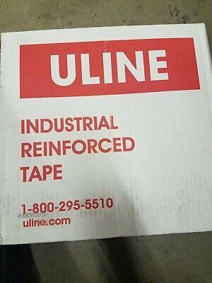 Uline Industrial Reinforced 3 X 375 Paper Tape New 8 Rolls In The Case Kraft