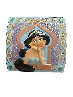 Disney Aladdin Princess Jasmine Jewellery Windup Music Box A Whole New World