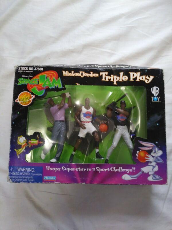 Michael Jordan Triple Play Space Jam Figurines  1996