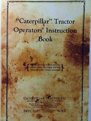 Caterpillar C.i Best Holt Sixty Thirty 2-ton Crawler Tractor Owners Manual 60 30