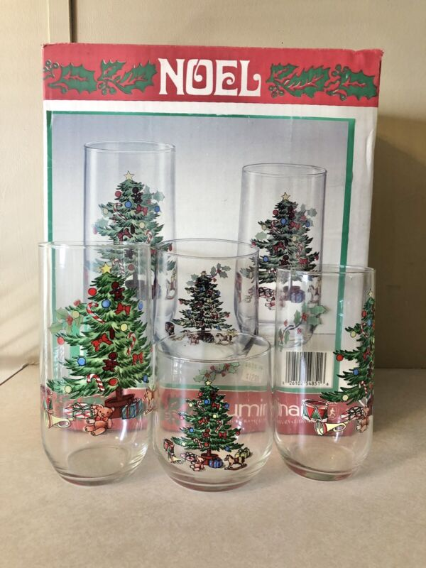 Luminarc NOEL Christmas Tree 12 Pc Glassware Set Matches Nikko Christmastime