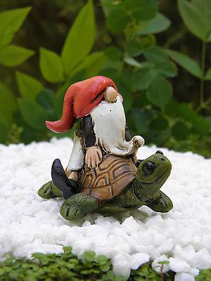 Miniature Dollhouse FAIRY GARDEN ~ Gnome on Turtle ~ NEW