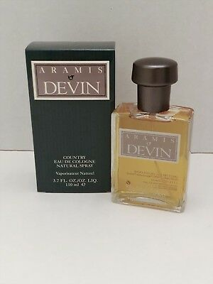 DEVIN by ARAMIS 3.7 oz /110 ml Eau De Cologne Spray NIB Rare Find