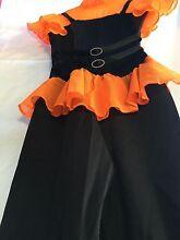 Neon orange Jazz dance costume can be used for dress up Mandurah Mandurah Area Preview