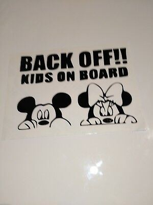 Back Off kids on Board ,car decal/ sticker for windows, bumpers , panels