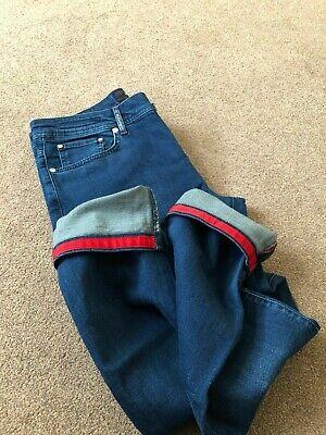 !UK SELLER! BNWT Kiton Napoli Slim Men Navy Denim Jeans Size 36 RRP: £680