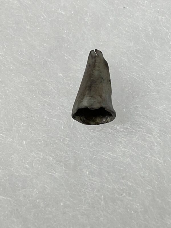 18TH-EARLY 19TH CENTURY IROQUOIS INDIAN FUR TRADE SILVER CONICAL BEAD / PENDANT