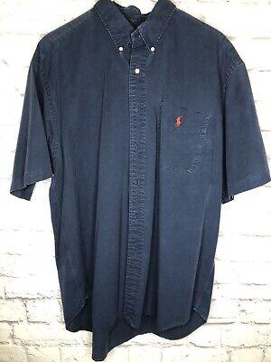 Polo Ralph Lauren Blake Men Shirt Cotton Blue LS button down XL-Outlet