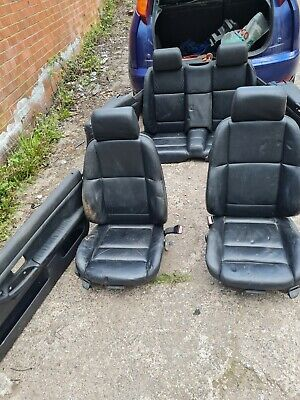Bmw E36 convertible black leather seats interior seats and door cards 328 m3
