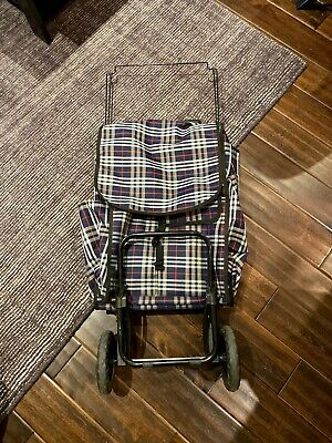 Folding Shopping Trolley Dolly Cart Bag Portable Grocery Holder