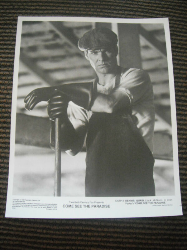 Come See the Paradise Quaid 1990 B&W Promo Photo Lobby Card