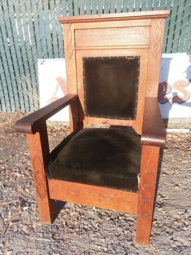 Antique Odd Fellows lodge chair furniture
