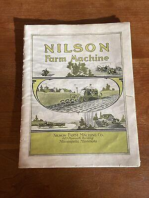 Nilson Tractor Very Rare Sales Catalog Antique Prairie Tractor Original Catalog
