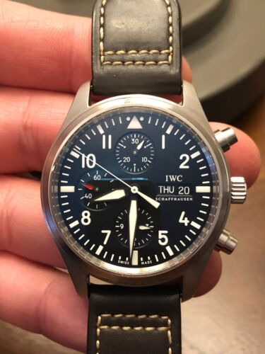 iwc pilot chronograph 371701 - watch picture 1