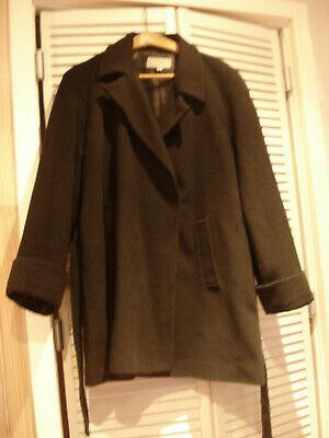 Veste noire 3/4 manteau caban en laine et cachemire taille 50