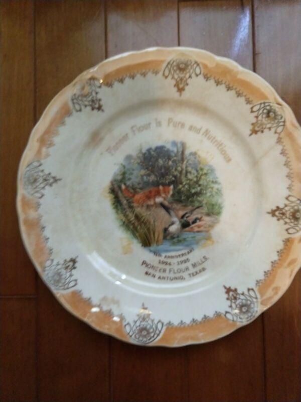 Pioneer Flour Mills 1924-1925 74th Anniversary San Antonio Texas Plate