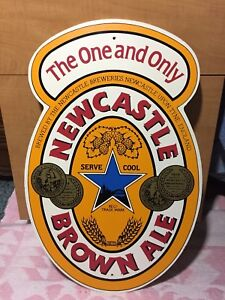 Wooden Newcastle Brown Ale, Bar, Mancave Sign