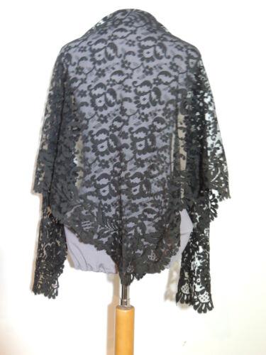 Victorian Black Lace Shawl / Stole