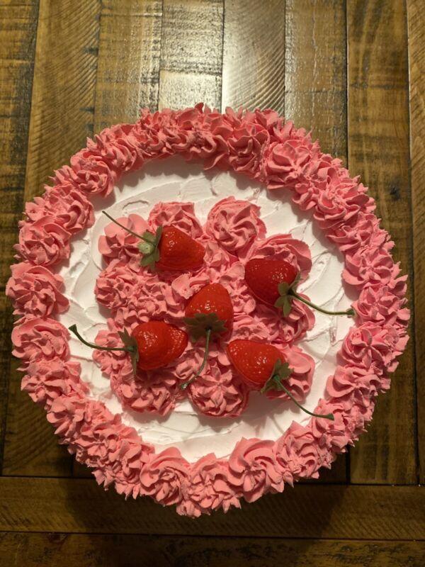 Fake Large Strawberry Cake