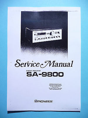 Service manual manual for Pioneer SA-9800