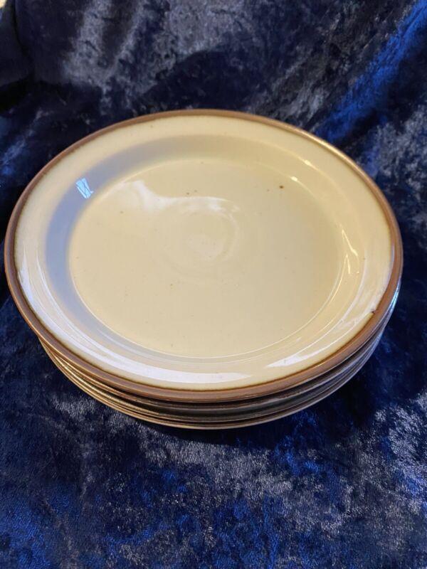 Dansk Brown Mist Bread Plates Set Of 4