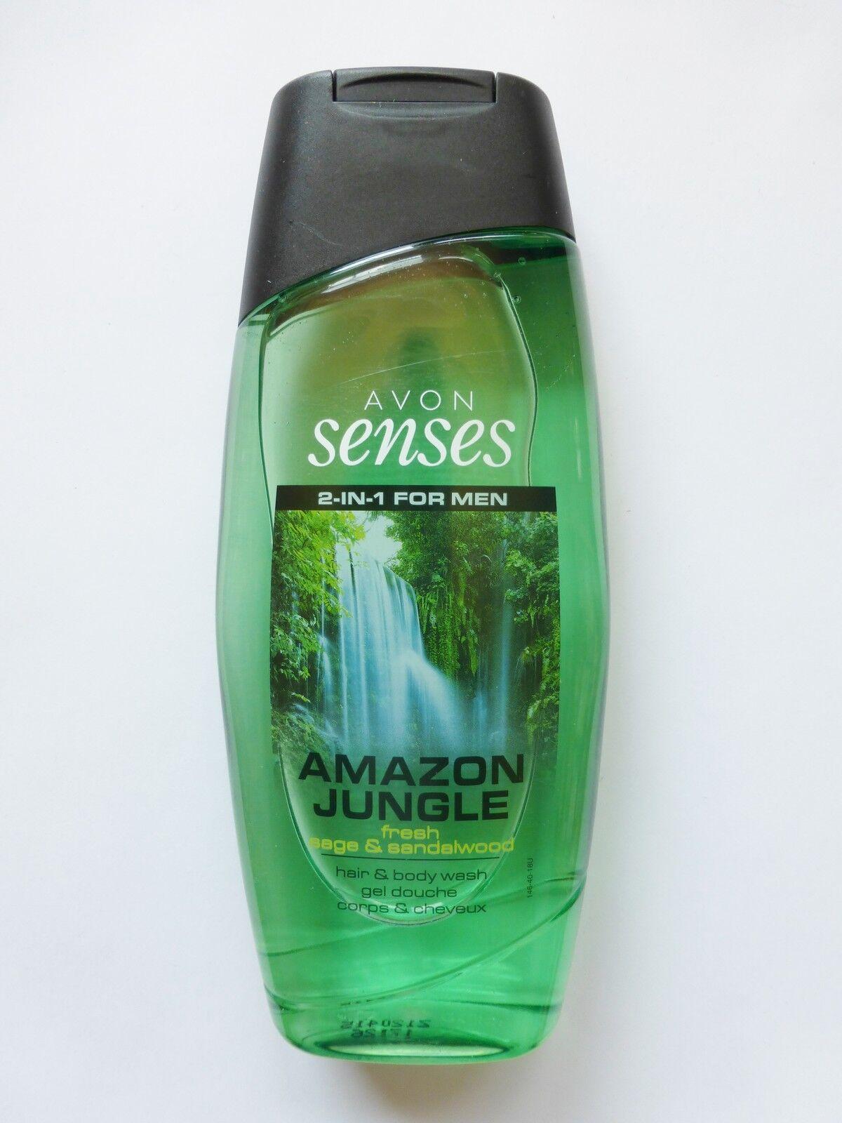 1L/5,96€ Avon Senses Amazon Jungle Shampoo & Duschgel For Men Salbei +Sandelholz