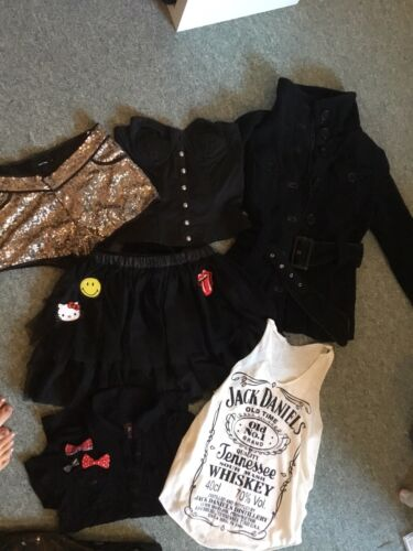 Kleidung Paket Konvolit Gothic Rock Alternative Pailetten Mantel Schwarz S EMP