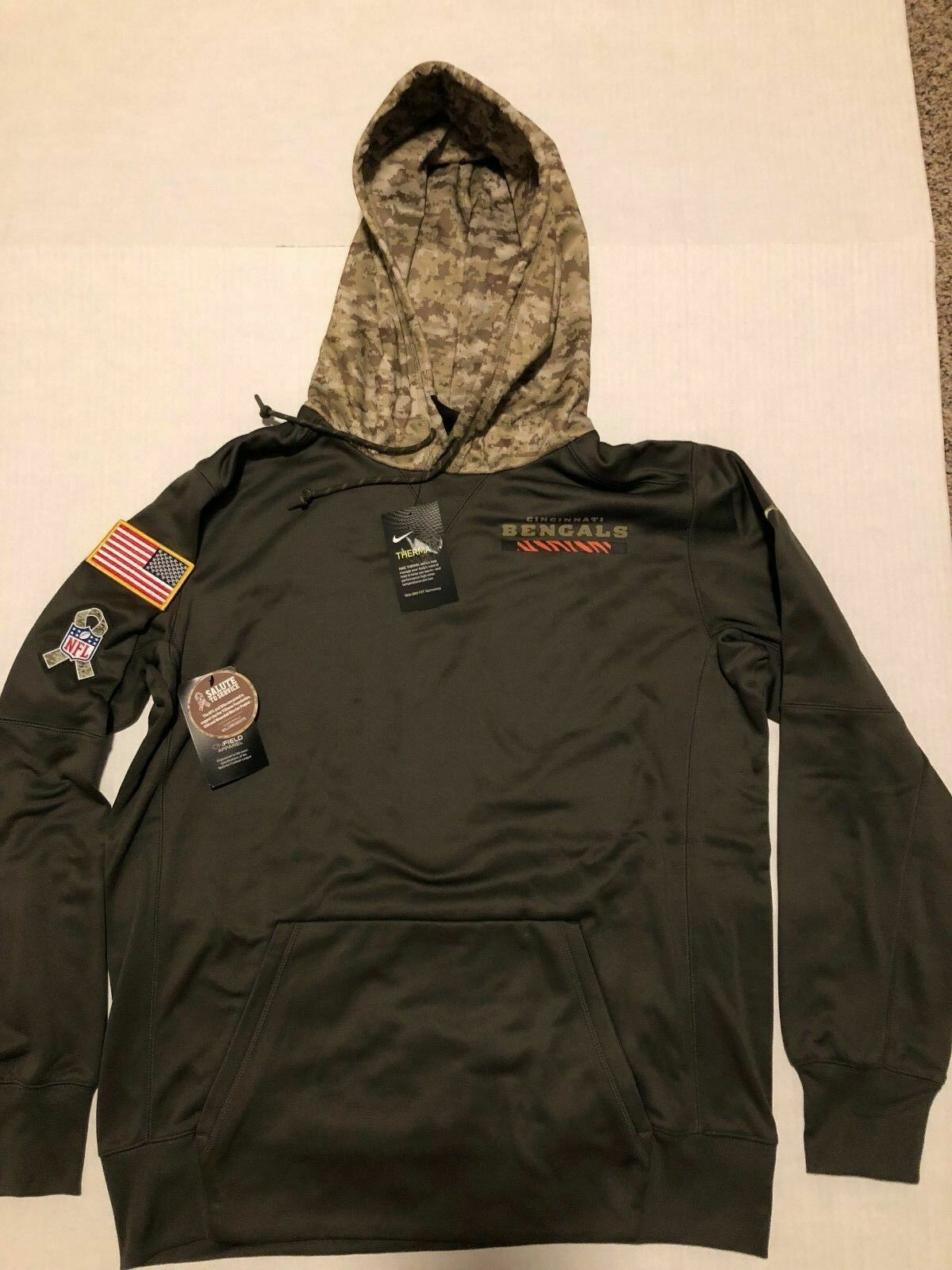 best service 74235 76272 Mens Nike Salute to Service Hoodie Cincinnati Bengals M Medium With Tags