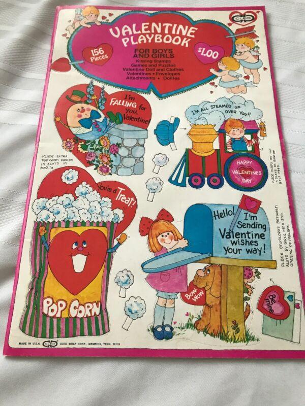 "Vintage Valentine Book 10"" By 16"" Cleo Complete Classroom + Teacher"