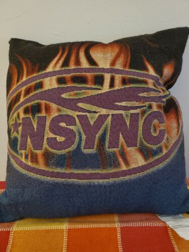 "*NSYNC Commemorative Pillow - Group Logo in Flames, 17""x17"""