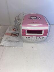 Hello Kitty AM FM CD Alarm Clock Radio Model KT2053 Tested Works Great VGUC