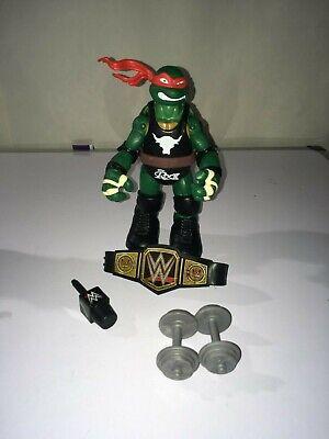 Raphael The Ninja Turtle (TMNT WWE  RAPHAEL AS THE ROCK 6 INCH  FIGURE NINJA TURTLE LOOSE NEW)