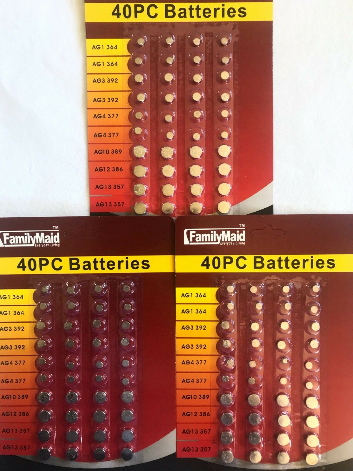 120 assorted super alkaline button batteries coin