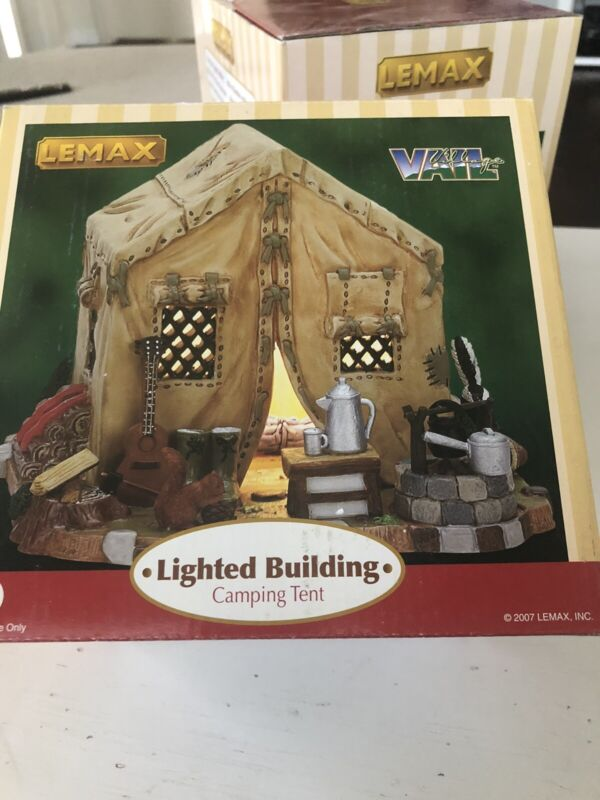 2007 Lemax VAIL Village Collection RURAL POINT RUSTIC TENT #75843 RETIRED