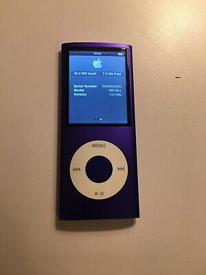 Apple Ipod Nano Purple 4th Generation 8GB FREE US SHIPPING