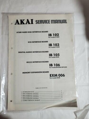 AKAI Service Manual Atari Hard Disk Interface Board IB 102 103 105 106 EXM 006