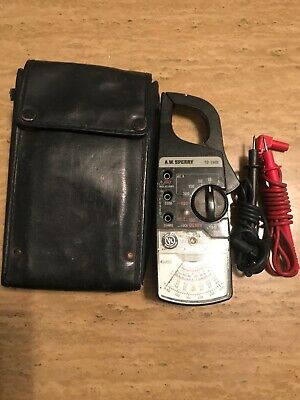 Aw Sperry Td-2608 Clamp-on Analog Ammeter With Case And Leads Vintage Working