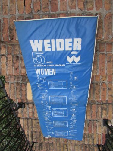 VINTAGE WEIDER PHYSICAL FITNESS MAT WITH EXERCISE PROGRAMS FOR MEN & WOMEN - EX