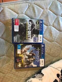 Call of Duty Infinate Warfare and Horizon Dawn Zero