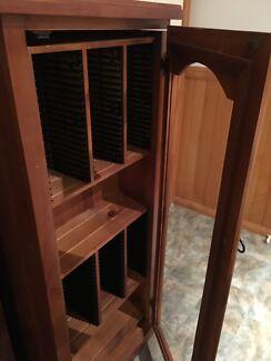 CD / DVD timber storage cabinet