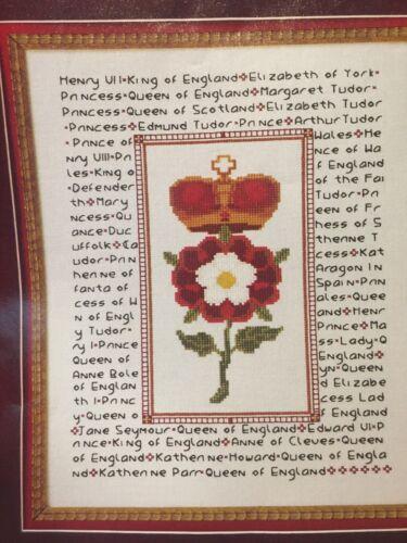 European History Tudor Dynasty Rose Cross Stitch Pattern