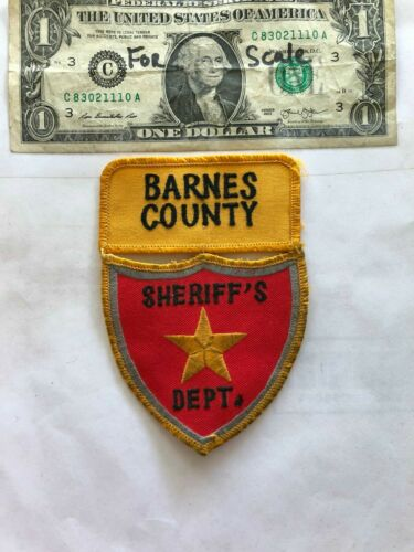 Barns County North Dakota Police Patch (Sheriff