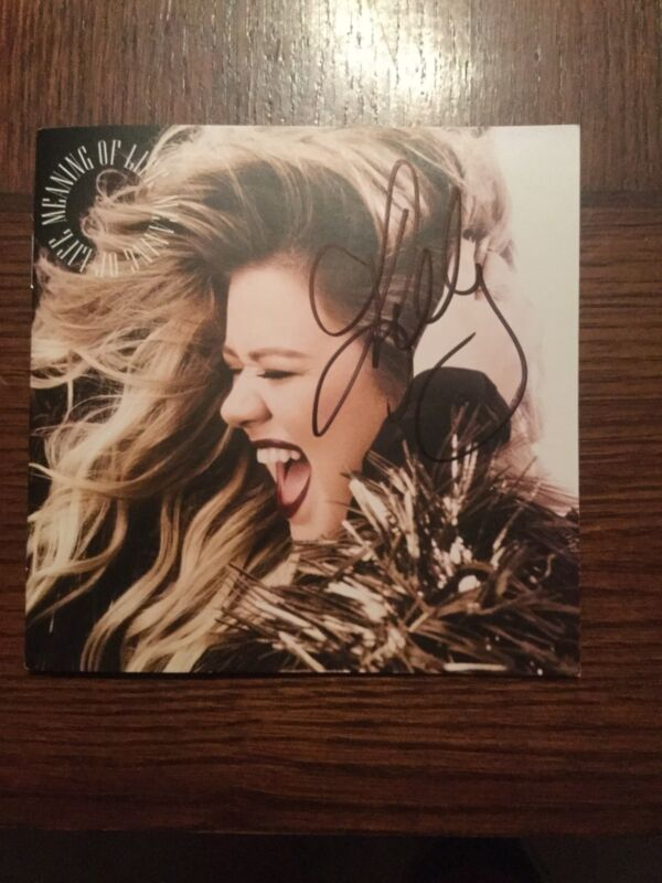 KELLY CLARKSON - Meaning Of Life Autographed CD Booklet